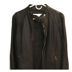 Black Jones New York leather jacket